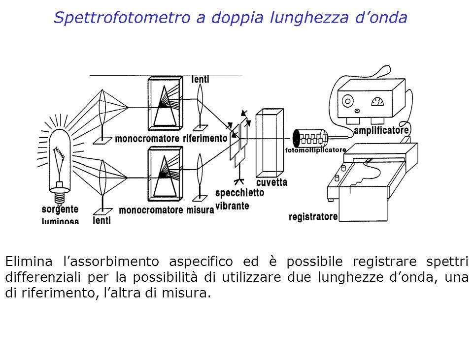 Spettrofotometro a doppia lunghezza d'onda