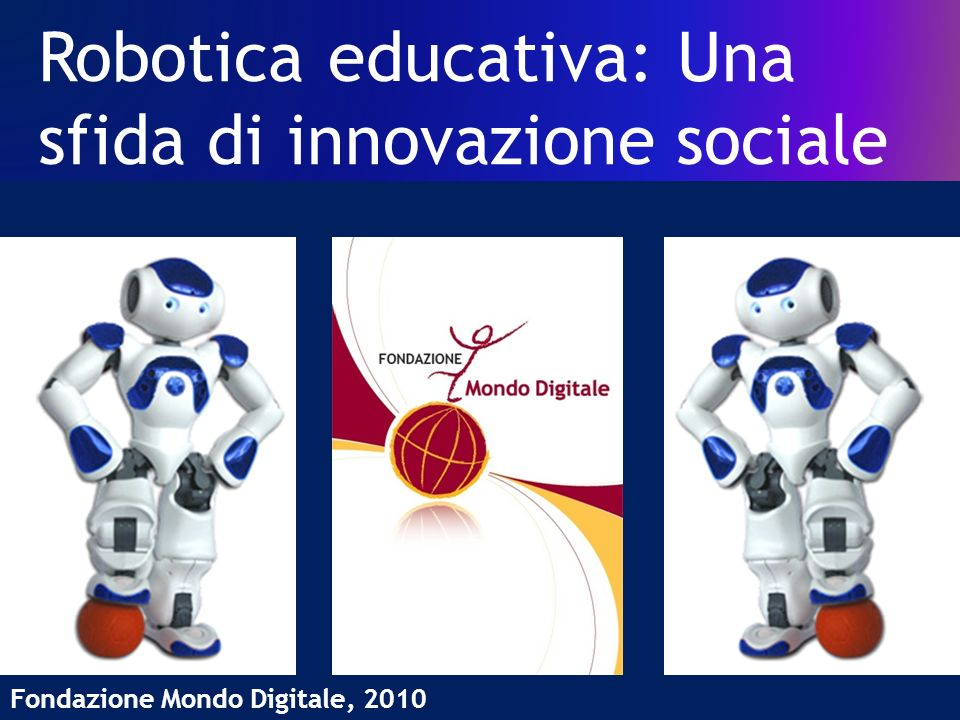 Robotica educativa: Una sfida di innovazione sociale