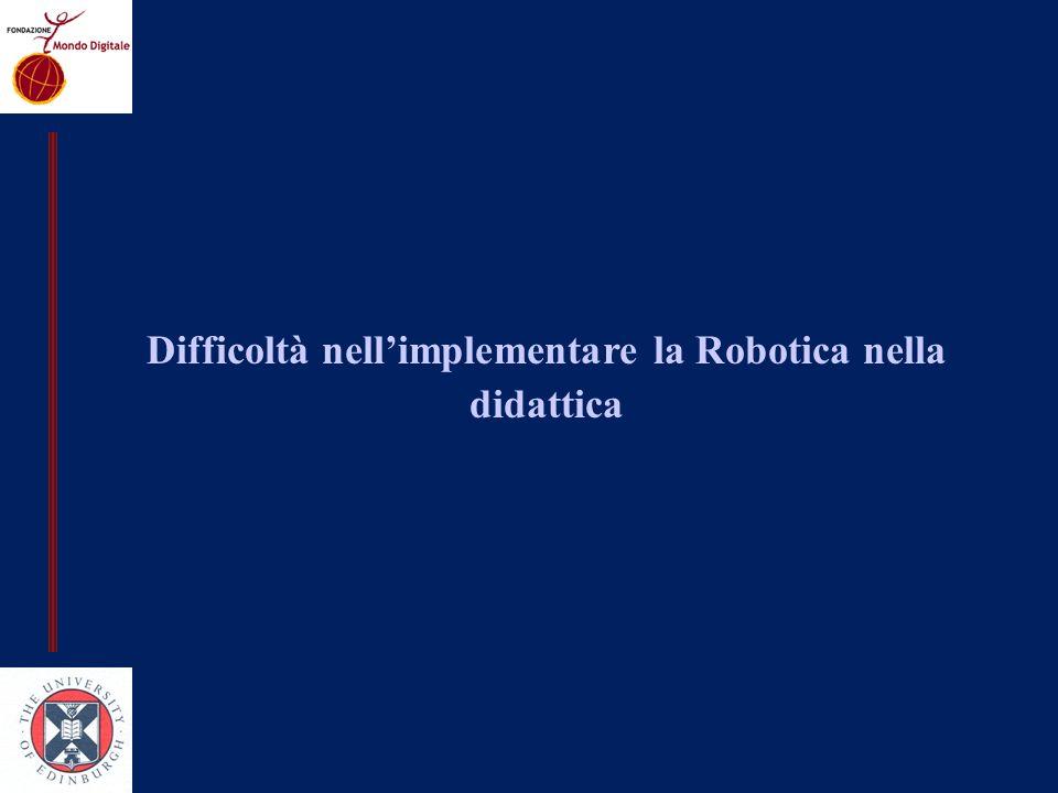 Difficoltà nell'implementare la Robotica nella didattica