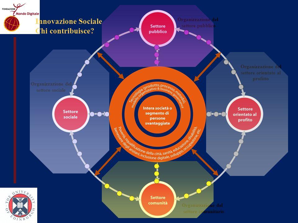Innovazione Sociale Chi contribuisce Organizzazione del