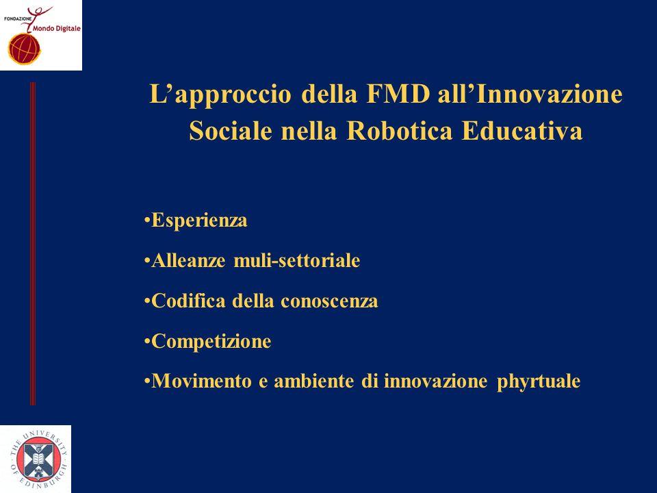 L'approccio della FMD all'Innovazione Sociale nella Robotica Educativa