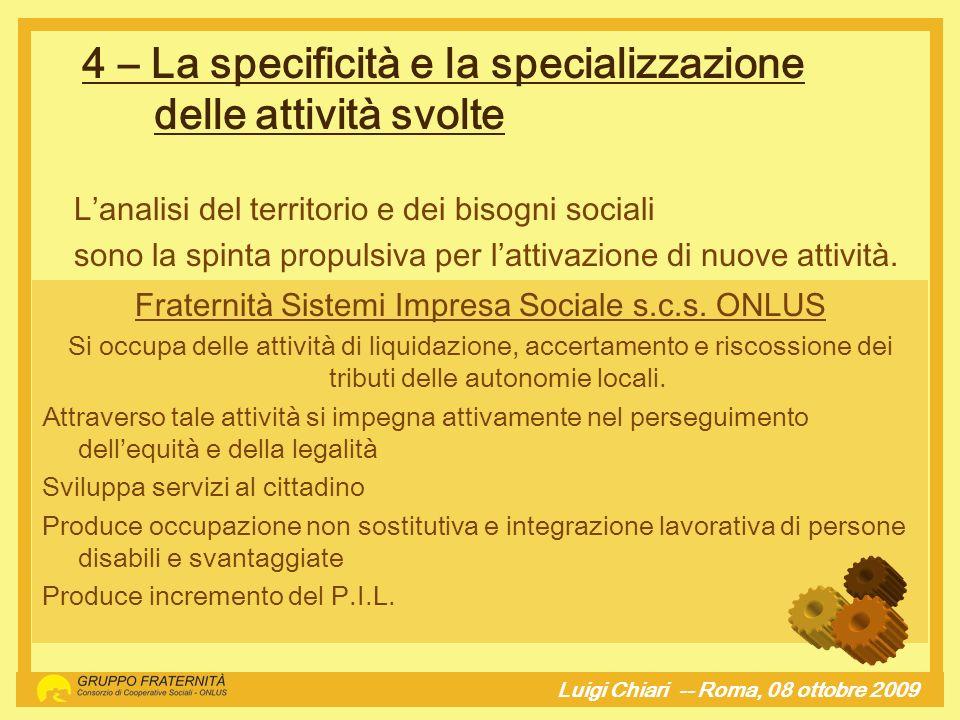 Fraternità Sistemi Impresa Sociale s.c.s. ONLUS