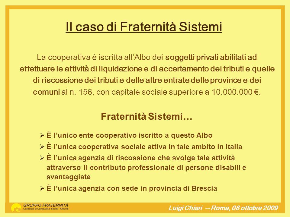 Il caso di Fraternità Sistemi