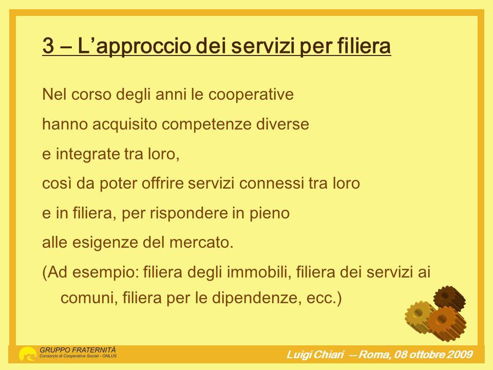 3 – L'approccio dei servizi per filiera