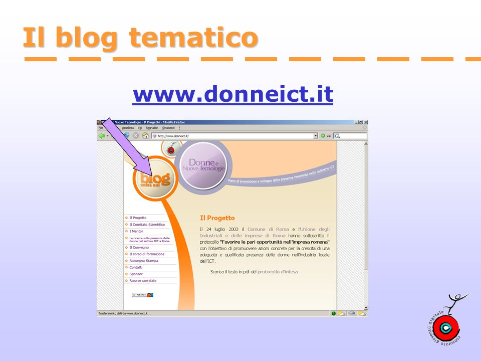 Il blog tematico www.donneict.it