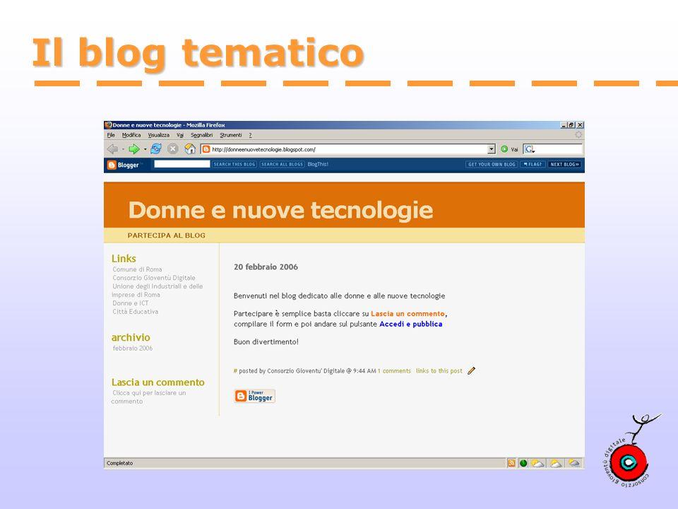 Il blog tematico