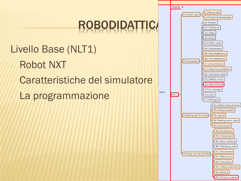 robodidattica Livello Base (NLT1) Robot NXT