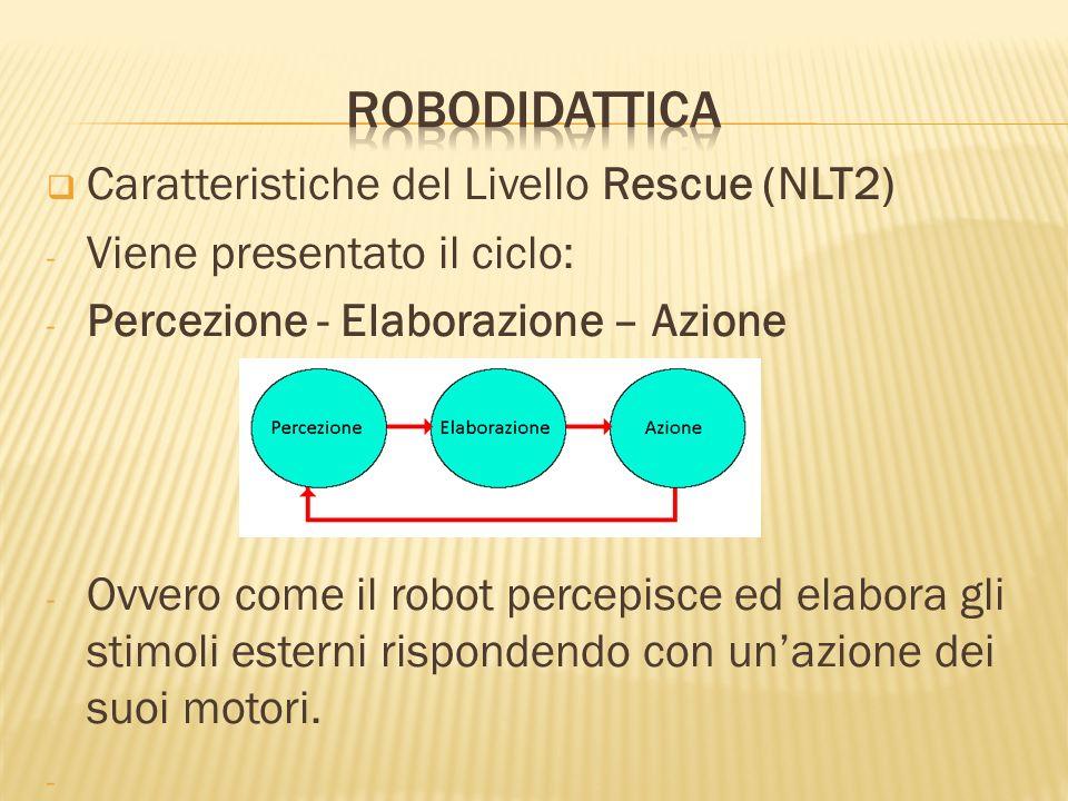 robodidattica Caratteristiche del Livello Rescue (NLT2)