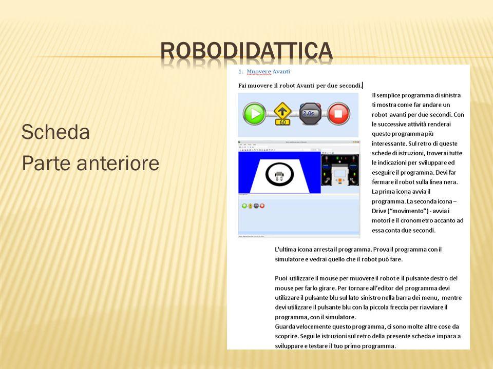 RoboDIDATTICA Scheda Parte anteriore
