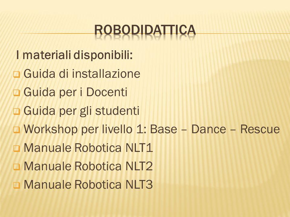 Robodidattica I materiali disponibili: Guida di installazione