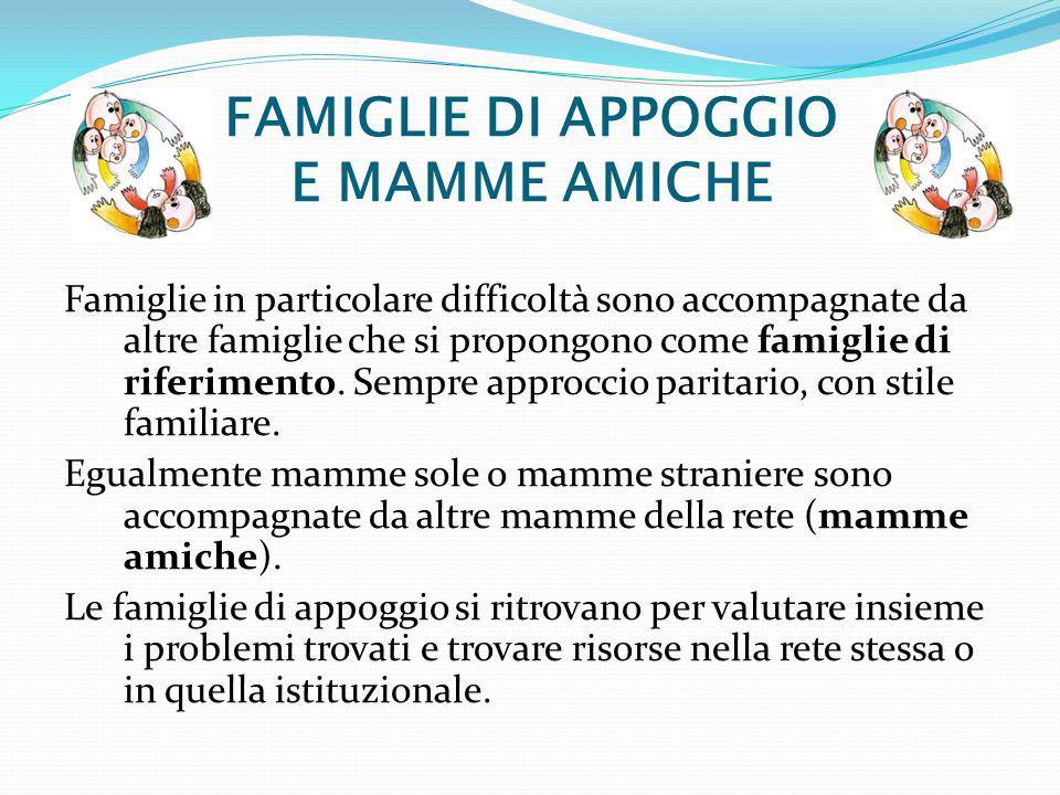 FAMIGLIE DI APPOGGIO E MAMME AMICHE
