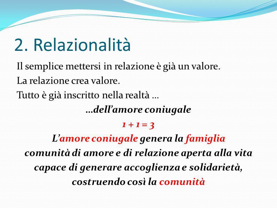2. Relazionalità