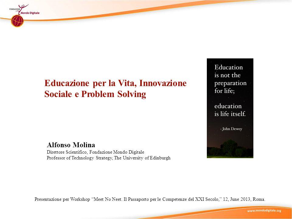 Educazione per la Vita, Innovazione Sociale e Problem Solving