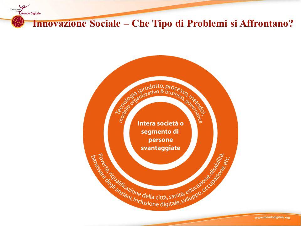 Innovazione Sociale – Che Tipo di Problemi si Affrontano