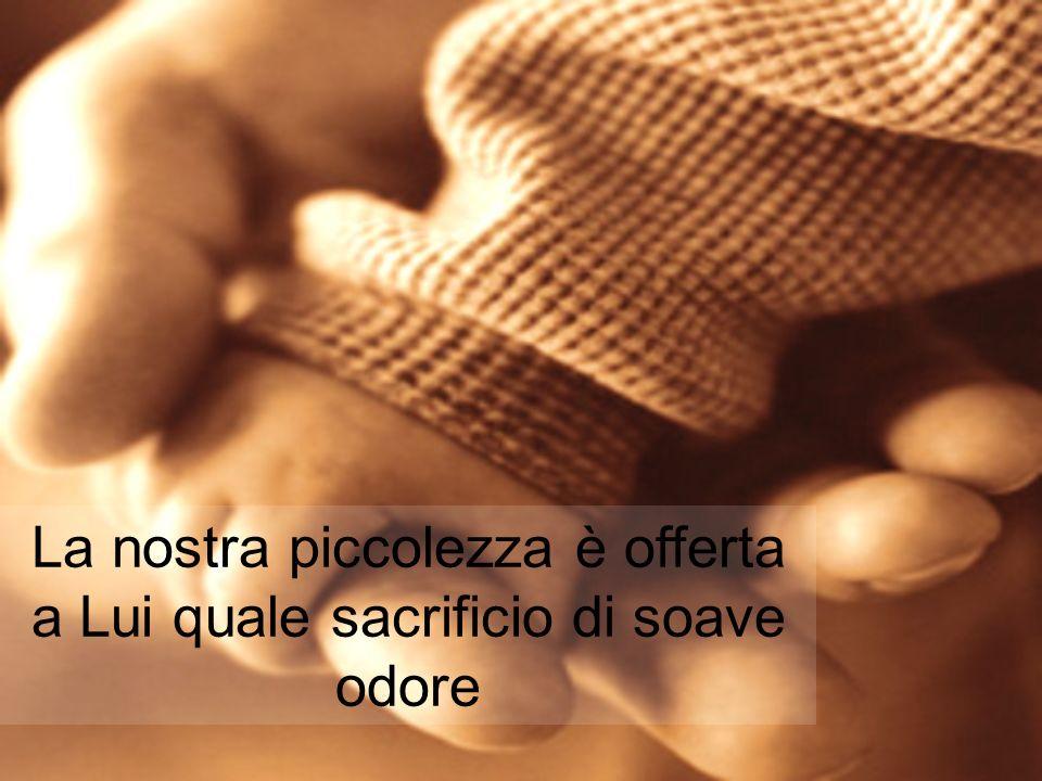 La nostra piccolezza è offerta a Lui quale sacrificio di soave odore