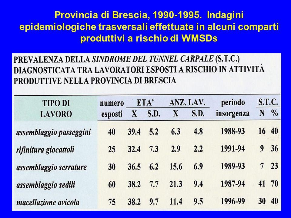 Provincia di Brescia, 1990-1995.