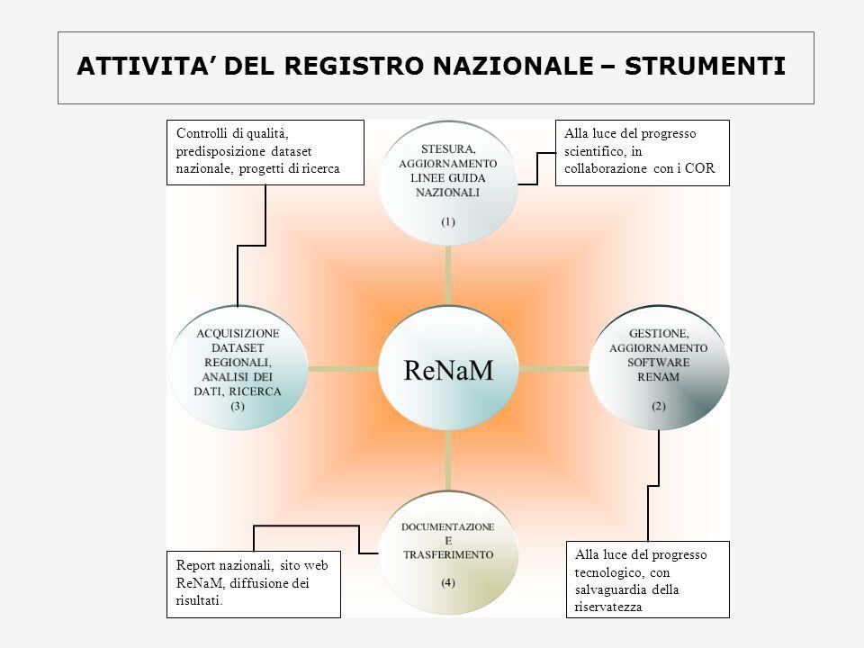ATTIVITA' DEL REGISTRO NAZIONALE – STRUMENTI