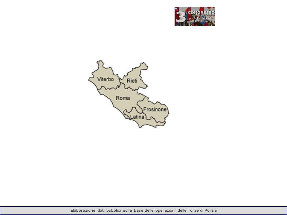 Elaborazione dati pubblici sulla base delle operazioni delle forze di Polizia