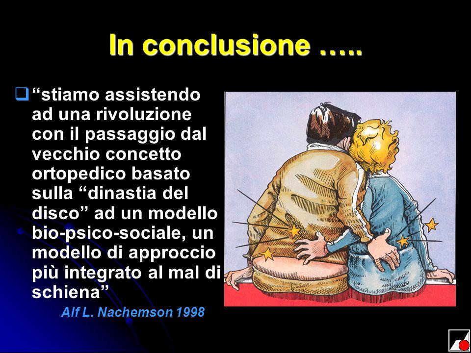 In conclusione …..