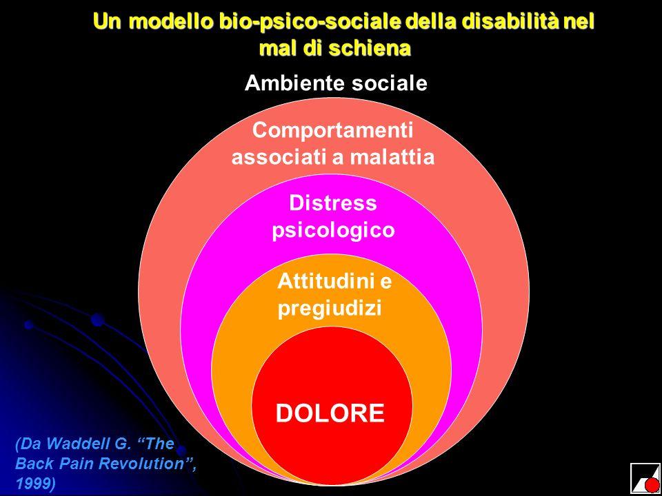 Un modello bio-psico-sociale della disabilità nel mal di schiena