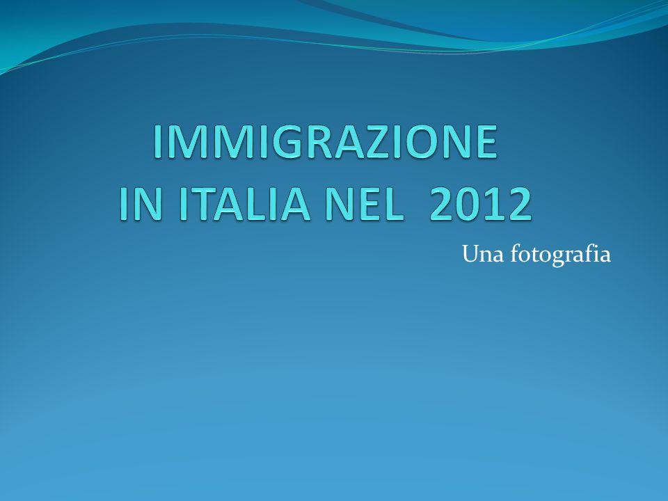 IMMIGRAZIONE IN ITALIA NEL 2012