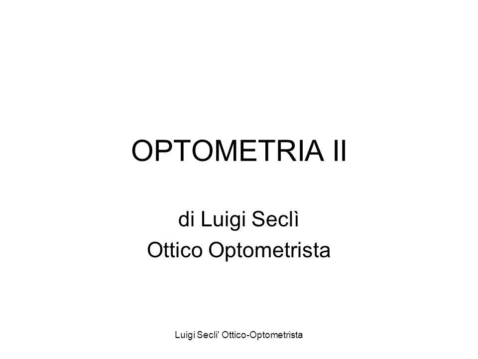 di Luigi Seclì Ottico Optometrista