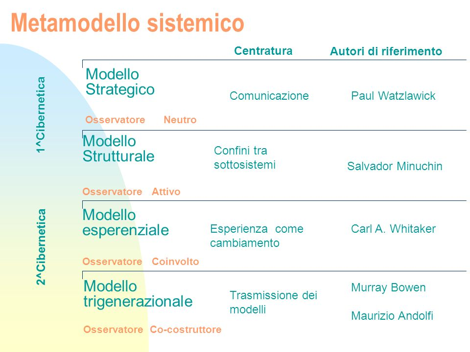 Metamodello sistemico