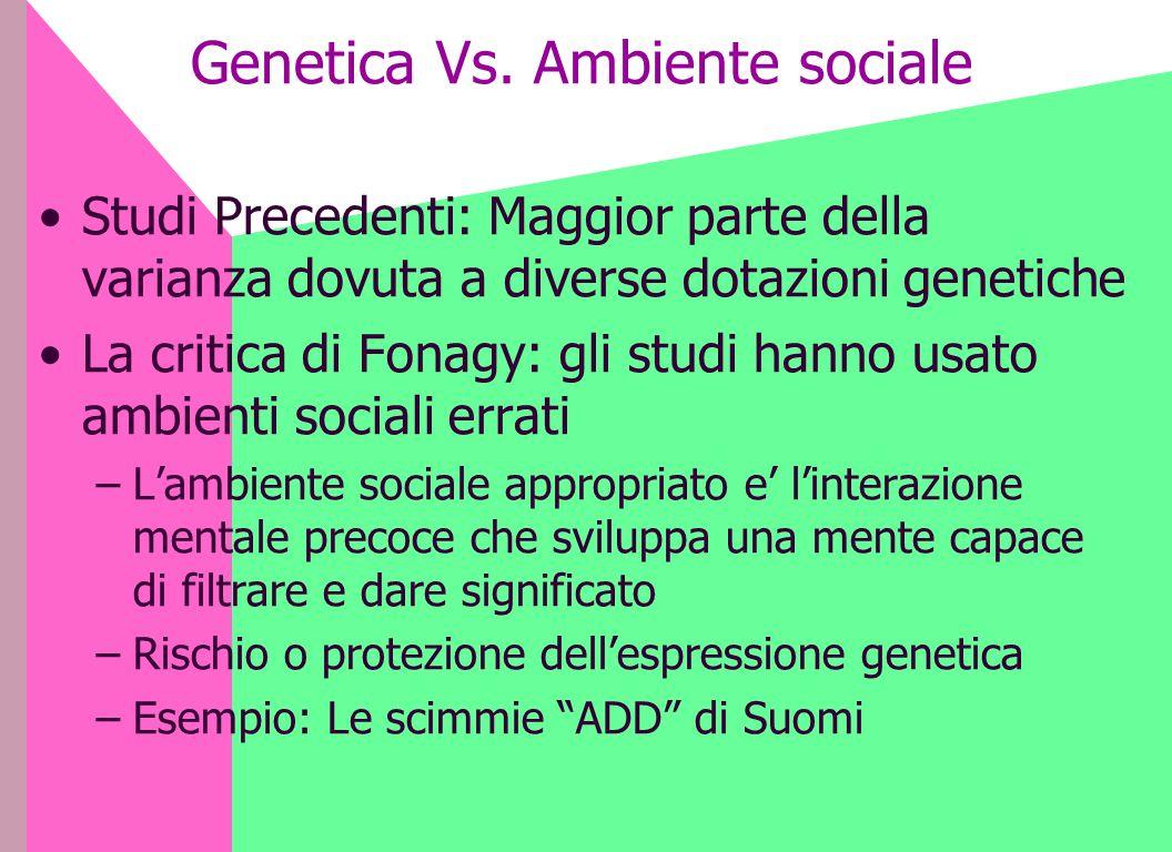 Genetica Vs. Ambiente sociale