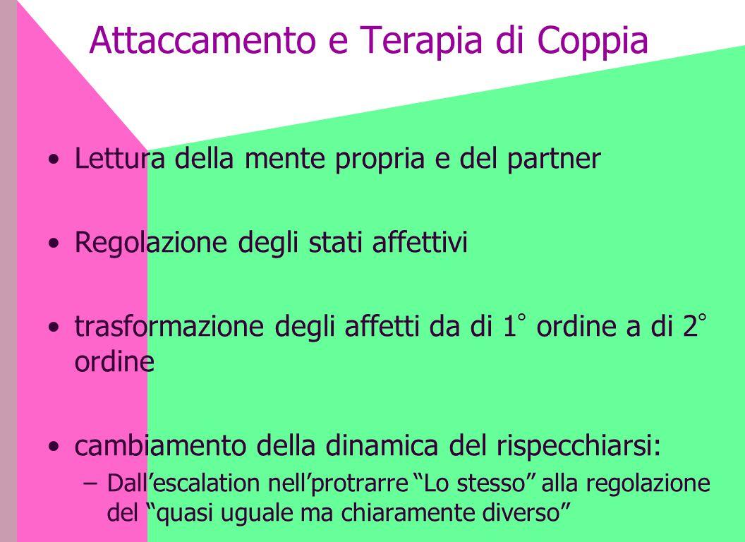 Attaccamento e Terapia di Coppia