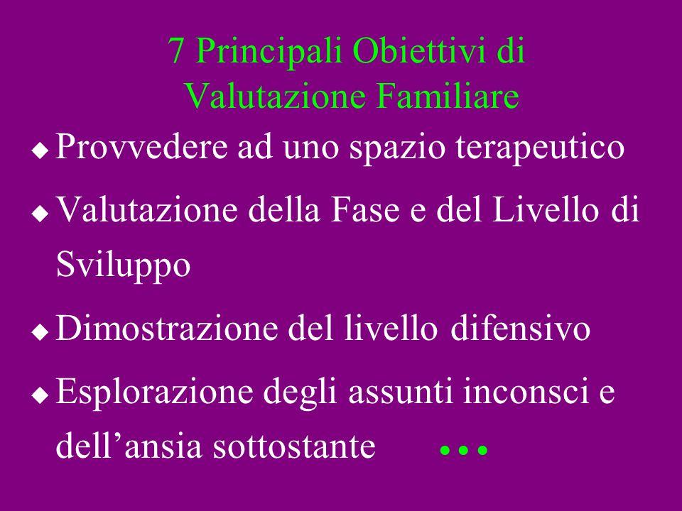 7 Principali Obiettivi di Valutazione Familiare