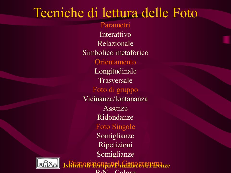 Tecniche di lettura delle Foto
