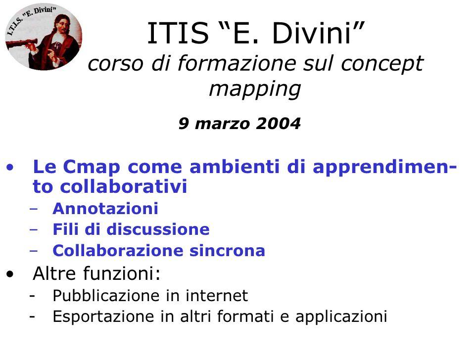 ITIS E. Divini corso di formazione sul concept mapping