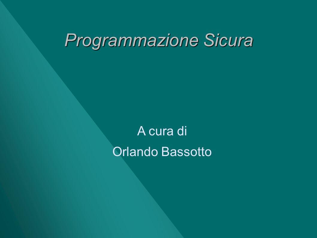 Programmazione Sicura
