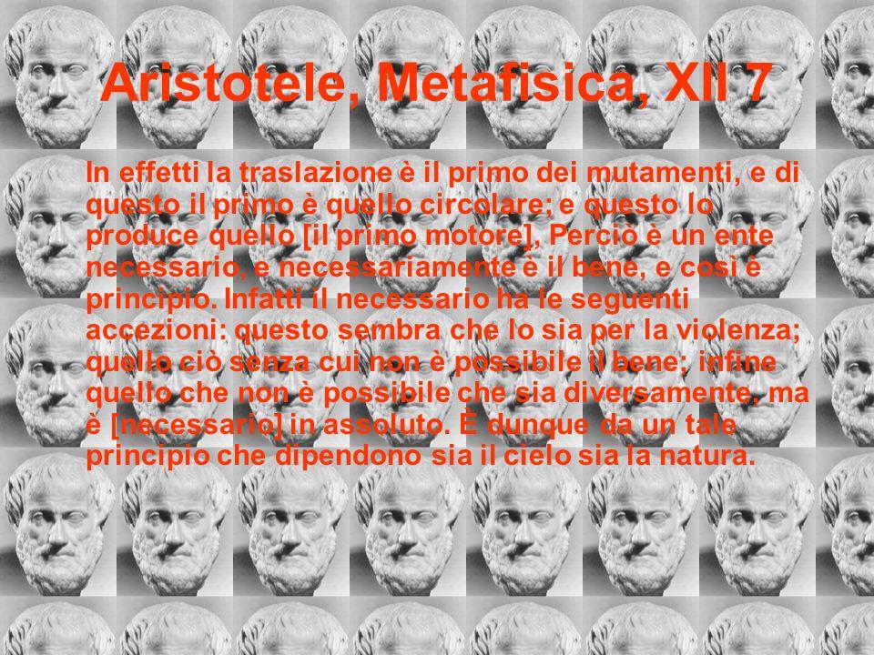 Aristotele, Metafisica, XII 7
