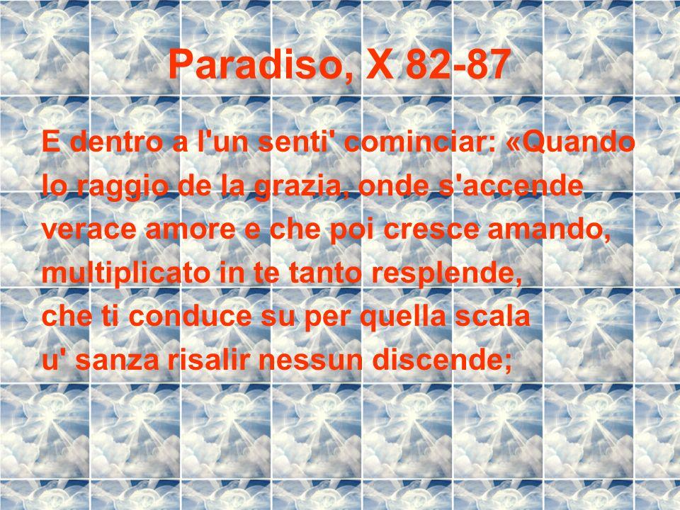 Paradiso, X 82-87 E dentro a l un senti cominciar: «Quando