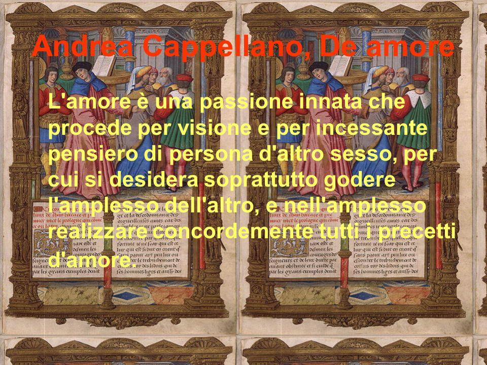 Andrea Cappellano, De amore