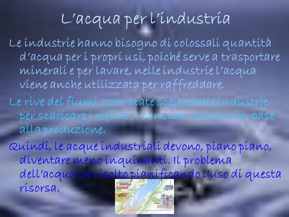 L'acqua per l'industria
