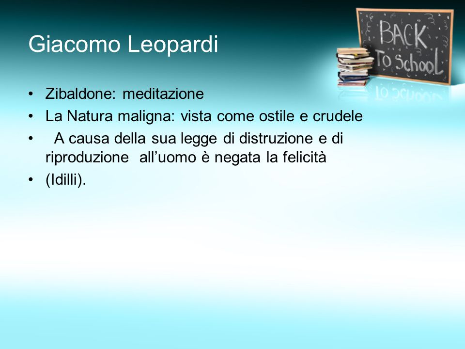 Giacomo Leopardi Zibaldone: meditazione