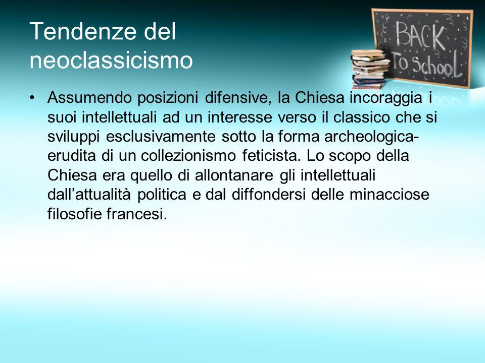 Tendenze del neoclassicismo