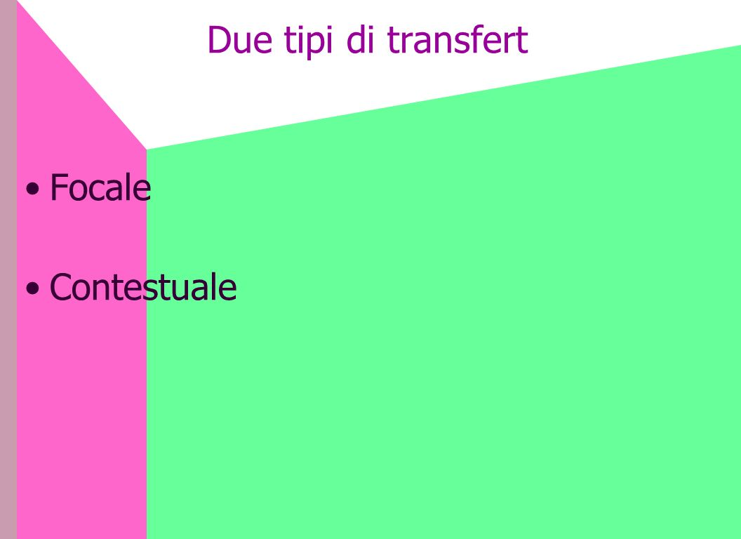 Due tipi di transfert Focale Contestuale