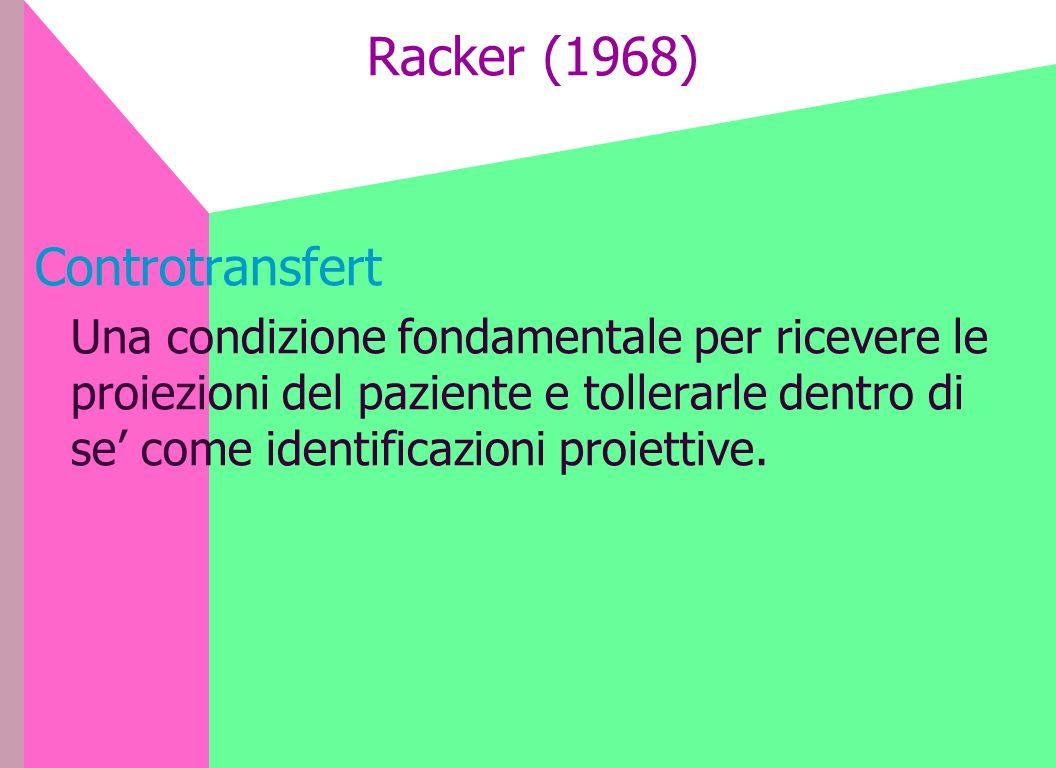 Racker (1968) Controtransfert