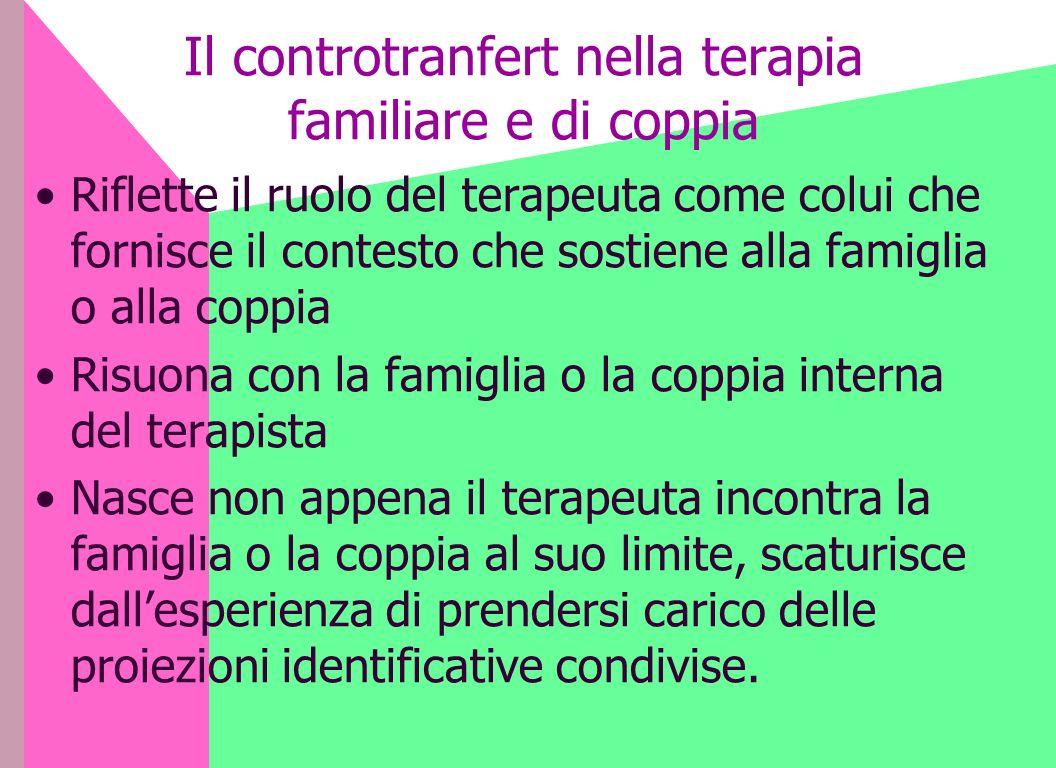 Il controtranfert nella terapia familiare e di coppia