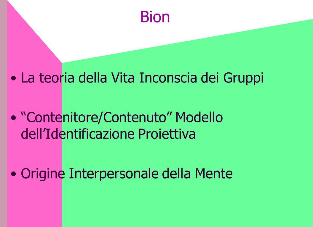 Bion La teoria della Vita Inconscia dei Gruppi