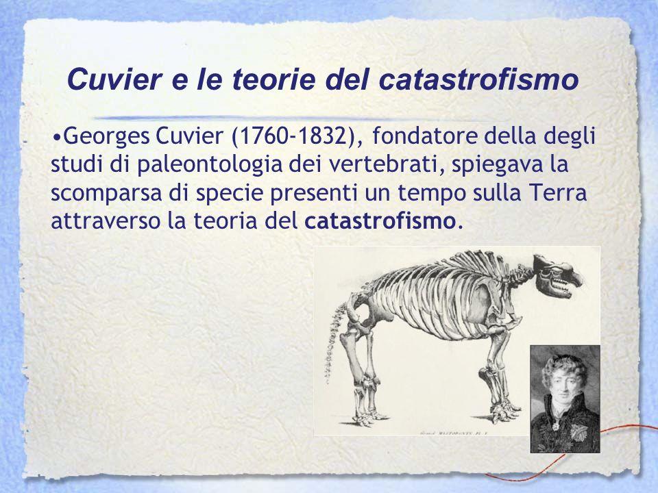 Cuvier e le teorie del catastrofismo