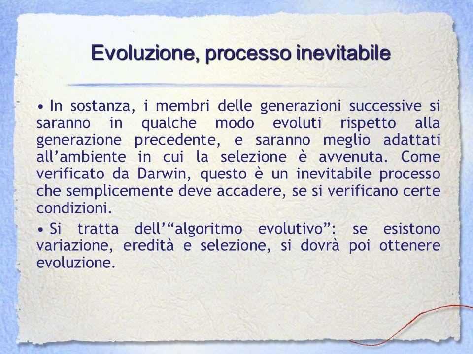 Evoluzione, processo inevitabile