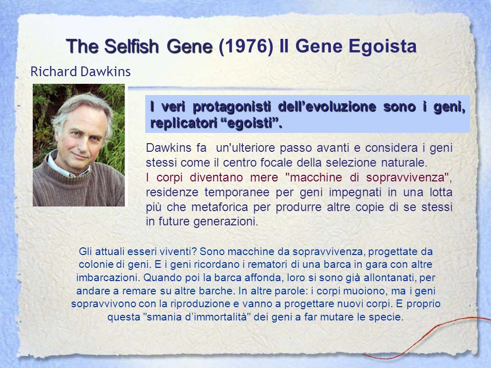 The Selfish Gene (1976) Il Gene Egoista