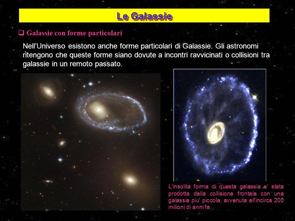 Galassie con forme particolari