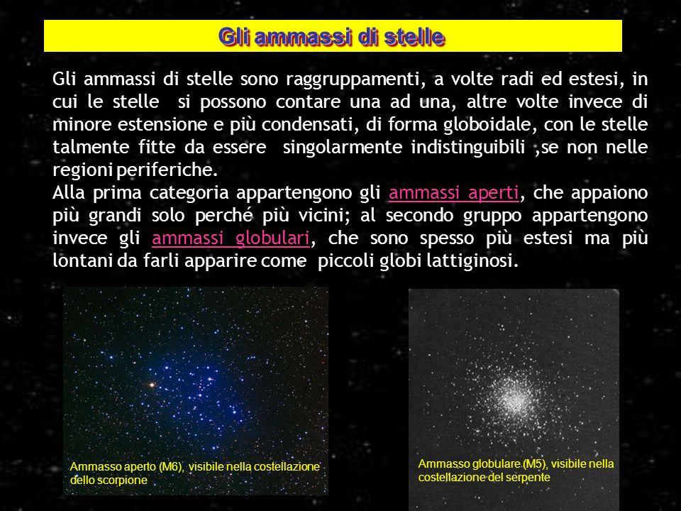 Gli ammassi di stelle