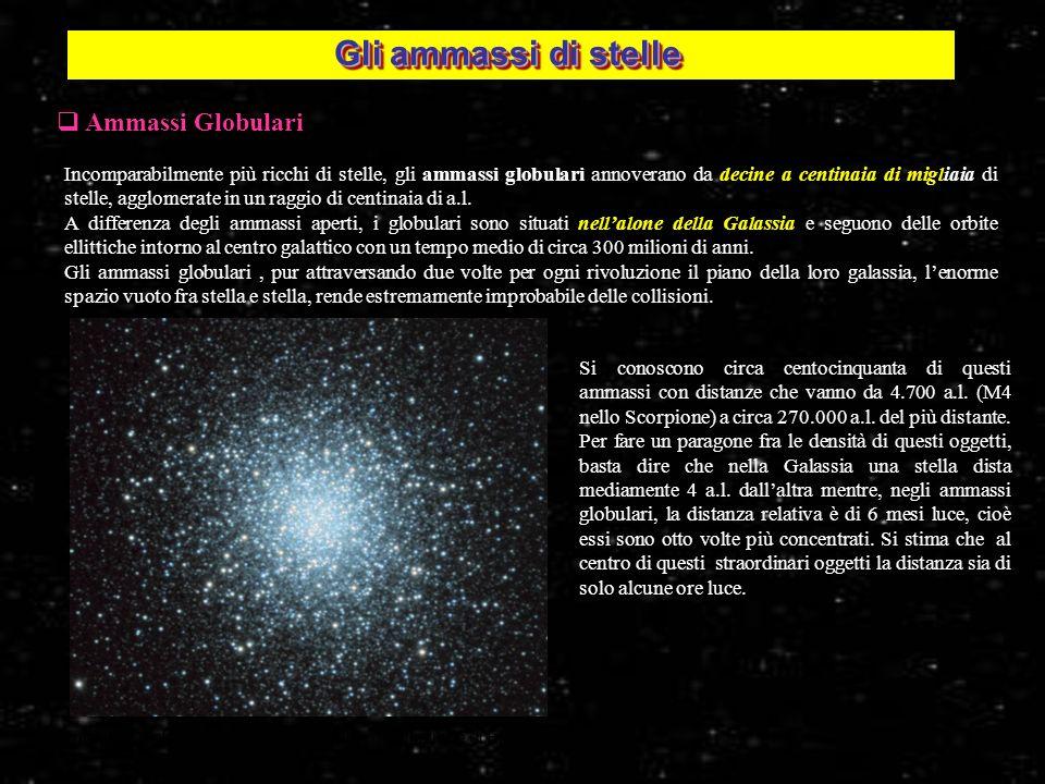 Gli ammassi di stelle Ammassi Globulari