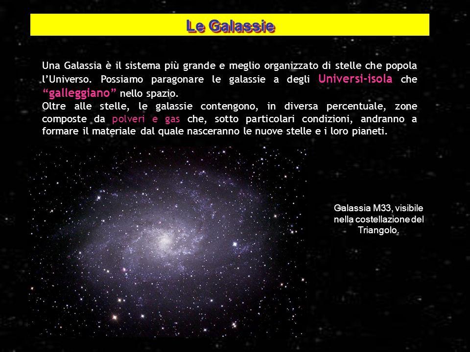 Galassia M33, visibile nella costellazione del Triangolo.